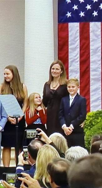 Amy Coney Barrett and Daughter Screen Image 09262020 327x600