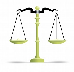 Balance scales of justice