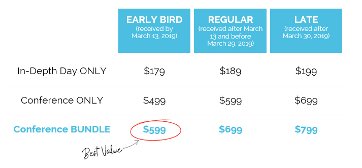conference pricing