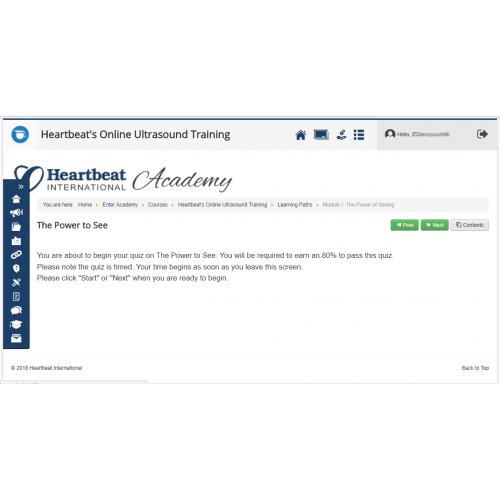 Heartbeat's Online Ultrasound Training